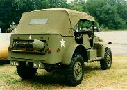 Color picture of a 1943 Dodge command car Top Kit
