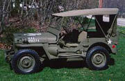 Color picture of a 1944 Willys MB Factory Deluxe Summer Top
